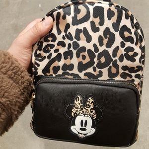 Mickey mouse leopard mini bookbag
